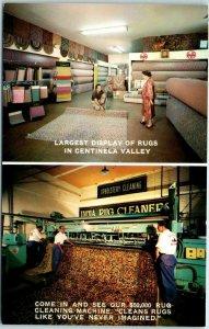 1950s Los Angeles CA Advertising Postcard INDIA RUG CO 600 La Brea Ave Inglewood
