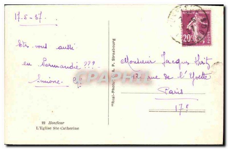 Old Postcard Honfleur The Saint Catherine Church Walk