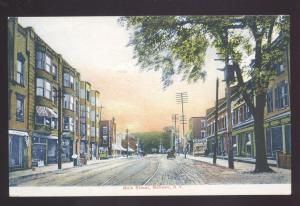 MOHAWK NEW YORK DOWNTOWN MAIN STREET SCENE ANTIQUE VINTAGE POSTCARD