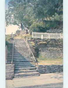 Pre-1980 THE STONE STEPS BY THE PICKET FENCE Harpers Ferry WV G3931