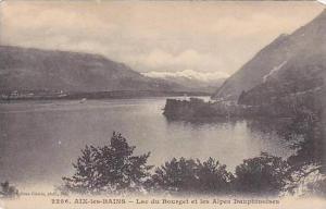 France Aix les Baines Lac du Bourget et les Alpes Dauphinoises