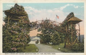 HOLYOKE , Massachusetts , PU-1920; Rustic Arbor & Casino, Mountain Park, Mt. Tom