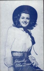 Cowgirl Movie Actress in Costume - Mutoscope Exhibit Card ELLEN DREW