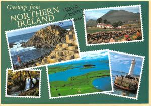 Northern Ireland gentle hills, mountain peaks fertile valleys Antrim Coast Road