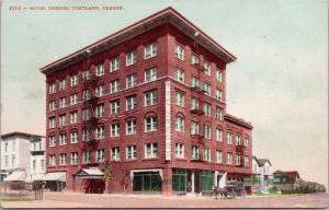 Hotel Oregon Portland OR c1910 Postcard D62