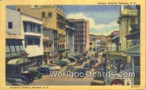 Central Avenue, Avenida Central Republic of Panama Unused