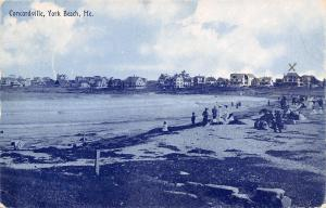 Concordville Maine~York Beach~Hotel We Are Staying Marked With X~1908 Postcard