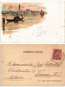 CPA Saluti da Venezia . ITALY (521272)