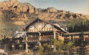F73/ Estes Park Colorado Postcard Albertype Baldplate Inn Entrance 6