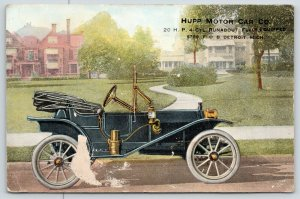 Detroit Michigan~Hupp Motor Car Co~Huppmobile Runabout 20 HP~$750~c1910 Adv PC
