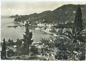 Italy, S. Margherita, Panorama, used real photo Postcard