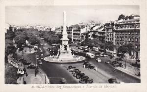 RP: LISBOA - Praca dos Restauradores e Avenida da Liberdade - Portugal , 1930s