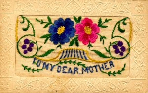 Greeting - To My Dear Mother w/flap for message (Embroidered Silk)