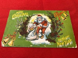 1905 postcard SANTA Merry Christmas & Happy New Year, to Webster McYann