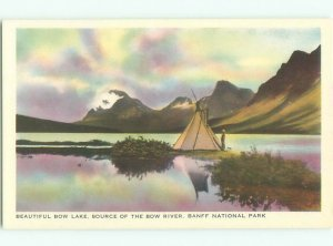 1930's LAKE SCENE Banff National Park Alberta AB AE5269