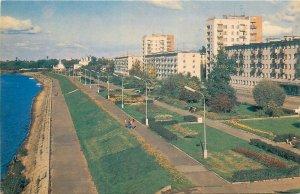 Russia novgorod alexander nevsky embankment on the commercial side  Postcard