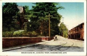 Melbourne Street Looking West Sherbrooke Quebec Vintage Postcard B03