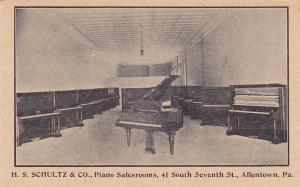 H.S. SCHULTZ & CO. , Piano Salesroom , ALLENTOWN , Pennsylvania , 00-10s