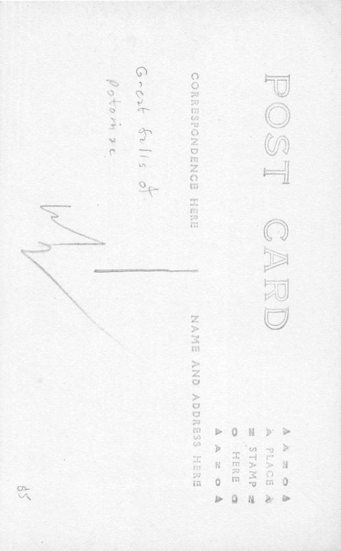 H78/ Washington D.C. RPPC Postcard c1910 Great Falls of Potomac 190