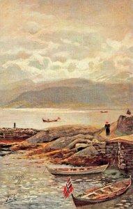 THE SOGNEFYORD Nr BALHOLM NORWAY~TUCK WORLD WIDE VIEW-NORWAY SERIES II POSTCARD