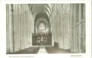 Winchester, the Cathedral Nave looking East, early 1900s