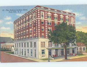 Unused Linen HOTEL SCENE Rock Hill - Charlotte South Carolina SC B1315