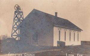 RP: LEON , Kansas , 1908 ; Christian Church