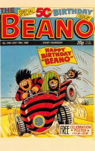 Postcard The Beano 50th Birthday Issue 1988 Cover Art by David Sutherland, Repro