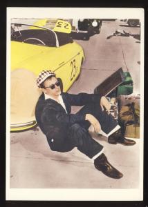 Actor James Dean Postcard, Sitting Alongside Race Car