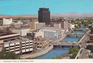 Nevada Reno Panoramic View Of Downtown