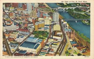 USA Air View of City St. Paul 01.93