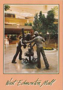 Canada Edmonton Running Statue West Edmonton Mall
