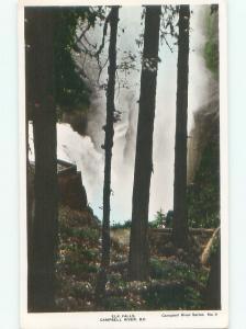 1940's rppc NICE VIEW Elk Falls On Vancouver Island British Columbia BC W0981