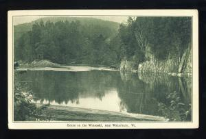 Waterbury, Vermont/VT Postcard, Scene On The Winooski