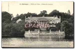 Quimper Old Postcard Rivier s & # 39Odet Chateau de Lanniron