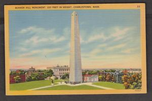 Bunker Hill Monument, Charlestown, Mass - Writing But Not Posted 1940s