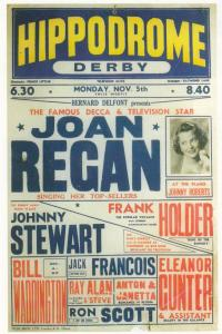 Joan Regan Decca Star Live At Derby Hippodrome 1956 Theatre Poster Postcard