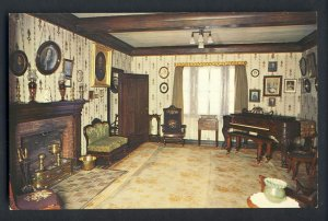 New Harmony, Indiana/IN Postcard, State Memorial/Living Room