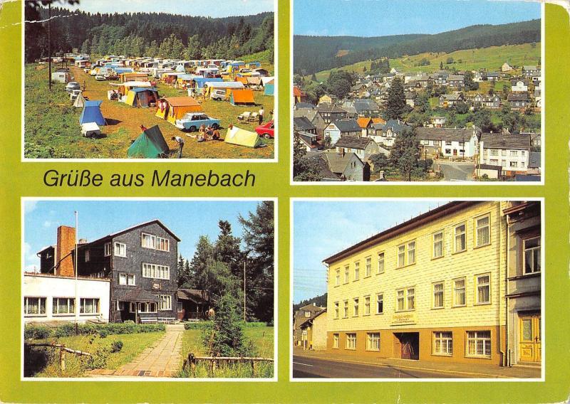 GG12624 Manebach Campingplatz Meyersgrund Betriebsferienheim Schoeffenhaus