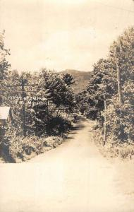 Mt Monadnock New Hampshire Scenic Roadway Real Photo Antique Postcard K90158