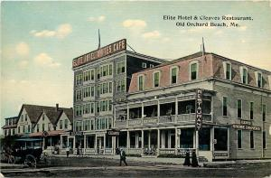 Old Orchard Beach Maine~Elite Motel~Cafe~Cleaves Restaurant~Shore Dinners~1908