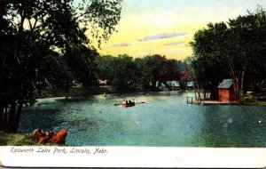 Nebraska Lincoln Epsworth Lake Park 1907