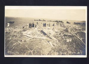 RPPC ELGIN NEBRASKA 1912 TORNADO DISASTER SMITH FARM OLD REAL PHOTO POSTCARD