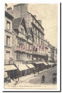 Caen Old Postcard Old houses rue Saint Pierre