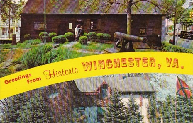 Virginia Greetings From Winchester 1968
