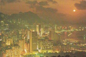 Hong Kong Dusk Scene Of Victoria