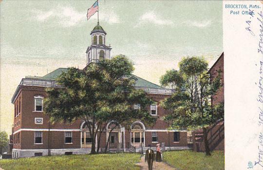 Massachusetts Brockton Post Ofice 1907 Tucks