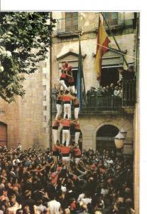 Postal 032265 : Nens del Vendrell Cuatre de set. Tours humaines typiques du V...