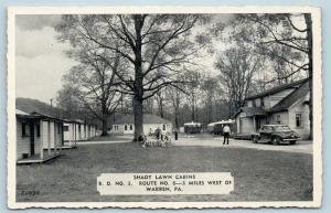 Postcard PA Warren Shady Lawn Cabins c1940s S15