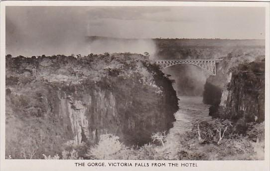 Zimbabwe Matabeleland North The Gorge Victoria Falls From The North Real Photo